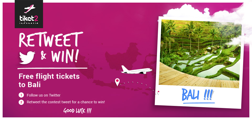 Win Tickets to Bali Tiket2 Indonesia Twitter Contest