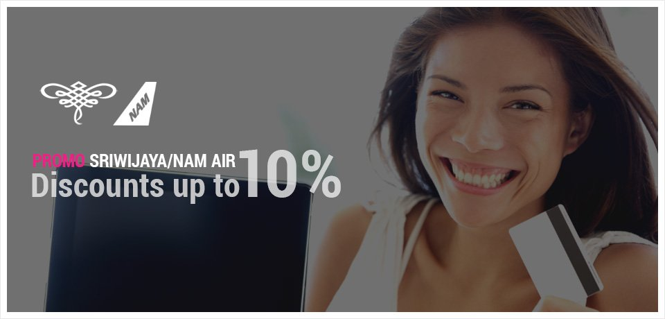 SRIWIJAYA/NAM AIR PROMO - discounts up to 10% - Tiket2