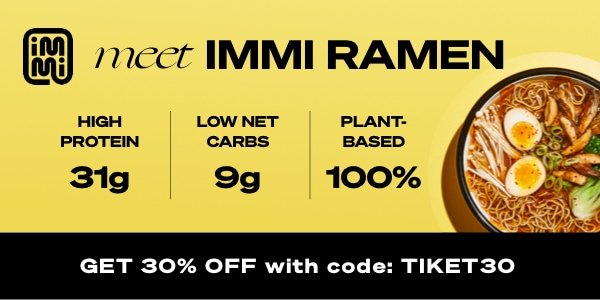 Tired of figuring out what to eat on your travels? Simplify your life with immi ramen. 31g protein. 9g net carbs. 100% plant-based. 0% stress. Prepare in a few minutes to keep you full for hours. Slurp now with 30% off all our flavors.