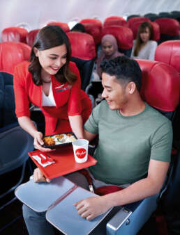 Meals served in the economy class