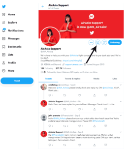 Airasia twitter customer support ava direct message