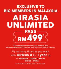 Airasia unlimited pass promo sale 2020 2021 2022