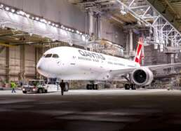 The airport hangar designed to hold massive Qantas airplanes