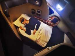 Qantas Business Class bed seat